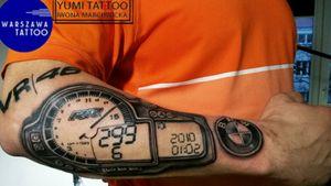 Bmw motor tattoo