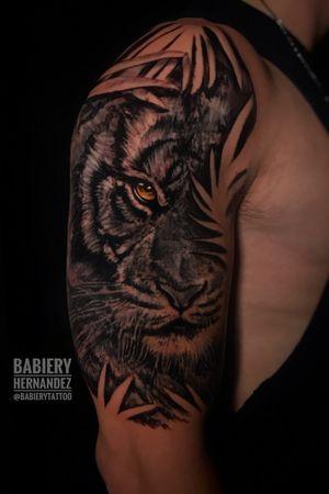 Tiger !! Artist: babiery Hernandez Booking 📩 •Babierytattoo@gmail.com •📥 @babierytattoo