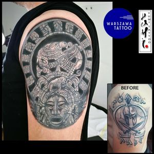 Aztec circle - cover up
