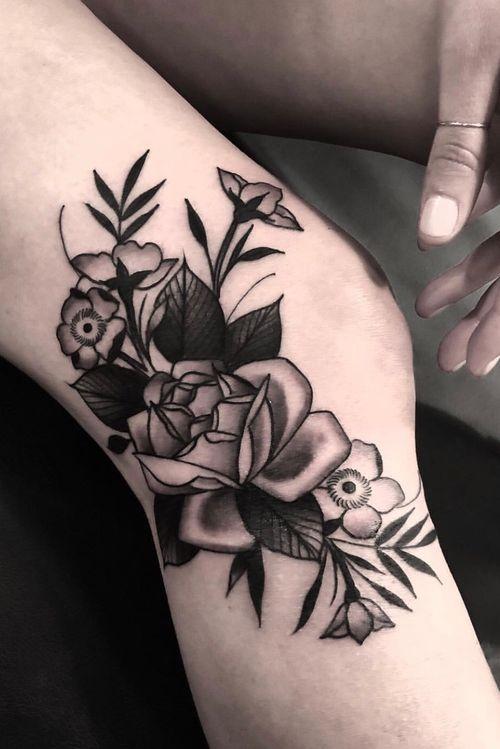 #roses #floral #blackwork #sanfrancisco #idlehand #derickmontez