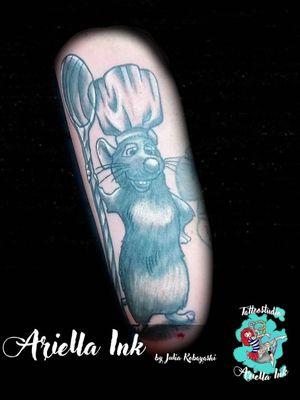 Disneys Ratatouille #tattoo #tattoos #freshink #freshlyinked #blackandgreytattoo #blackandgrey #disney #ratatouille #remy