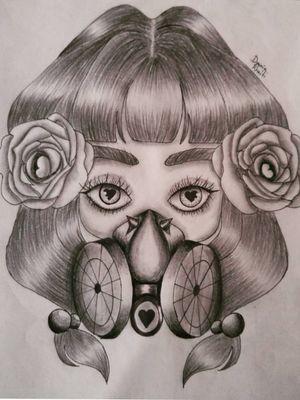 Gothic lady Art by: Dounia Rhaiti