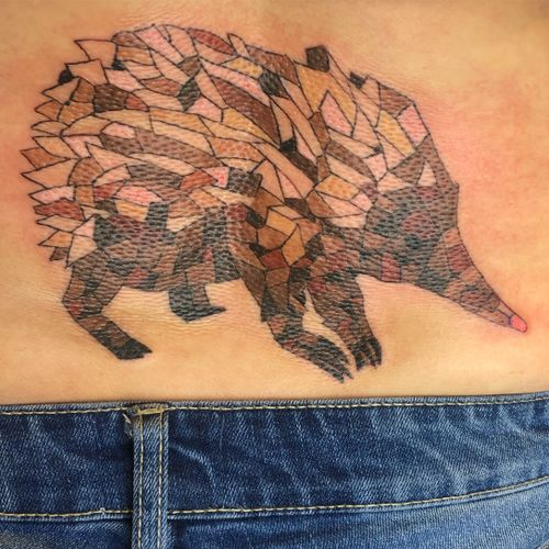 Mosaic Echidna #echidna #animaltattoo #colourtattooart