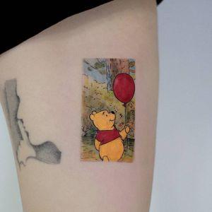 Winnie the Pooh #winniethepooh #cartoon #cartoontattoo #color #colortattoo