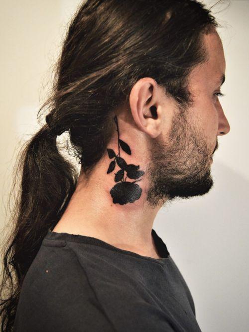 #flowertattoo #blackworktattoos #necktattoo #neckrose #rosetattoo #blacktattoo #blackrose #blackrosetattoo #practice #learning #learningtotattoo #everythingpossible  #tattoos #tattoolifestyle  #tattoonewbie #ink #inked #daretochange #daretobedifferent #workingheroes #beginnertattooartist #tattooedgirls #tattooworkers #inkstagram #tattoosession #tattoodo #myinkprints2019
