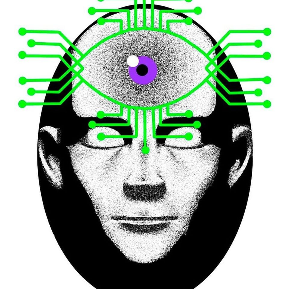 The third eye of humanity from the metaphysical subconscious moved to virtual reality. Our judgments and speculations form the Internet, providing us with the illusion of controlling actions and the illusion of choosing the most objective information. We form an idea of a person based on his social and network status, but we do not think that the creators of Internet images have the ability to program the public consciousness, since virtual reality is completely synthetic. #Anna #PomDeterminism #handpoketattoo #handpoke #stickandpoke #cyberpunk #cyber #surrealism #linework #dotwork #strange #weird #unique #philosophy