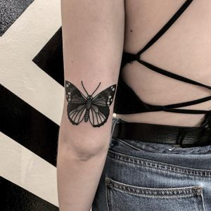 Butterfly black and grey