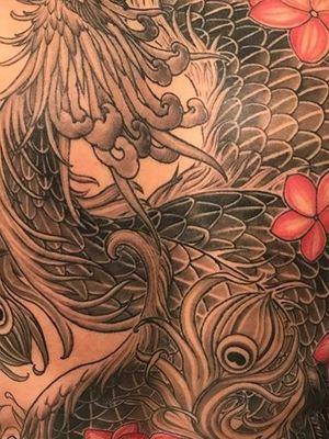 Japanese Phoenix Back Piece