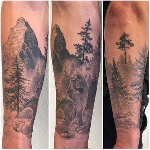 #healed #healedtattoo #mountains #mountaintattoo #wolf #wolftattoo #treetattoo #tree #forest #foresttattoo #blackandwhitetattoo #blackandgreyink #blackandgreytattoo #realistictattoo #realistic #realisticink #lausanne #tattoolausanne #lausannetattoo #fann_ink