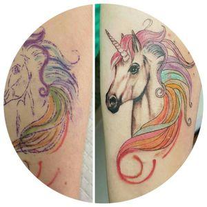 #unicorntattoo #watercolortattoo