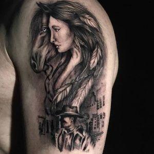 #tattoo #focus #alwayslearning #tattoo #loveit #happy #ilovemyjob #doitwithlove #thankful #WesternTattoo #blackandgreytattoo