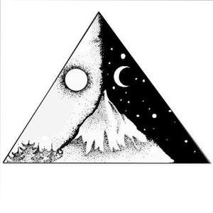 #mountains #mountaintattoo #blackworktattoo #sun #moon #myinkprints2019 #dotwork #dotworktattoo