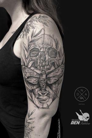 #tattoo #graphic #blackandgrey #tatuaz #tattoogdansk #gdansktattoo #work #skulltattoo