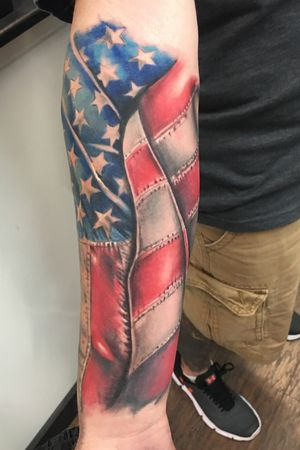 American flag from philadelphia tattoo collective