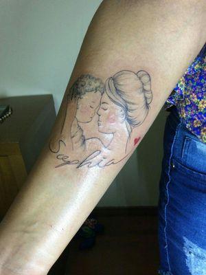 Homenagem para filha - #tattoofeminina #tattoomaeefilha #cutetattoos #tattoodelicada
