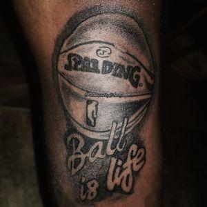 Basketball tattoo, basketball design tattoo, Spalding