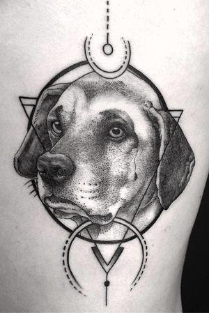 • #dog #details #blackwork