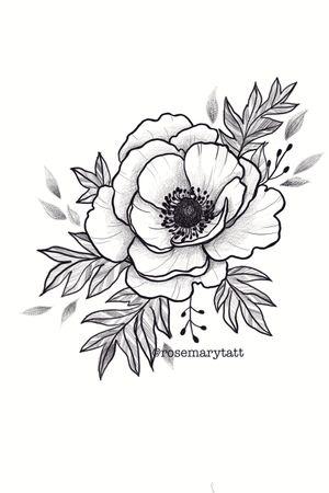 #anemona #available #flower #botanical #blackandwhite