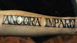 Ancora Imparo tattoo