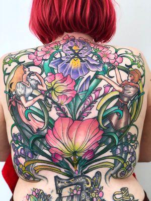 Finished upper back! Mostly healed some fresh!