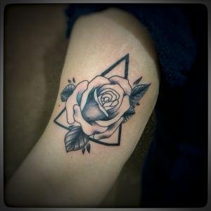 Rosa com geometria