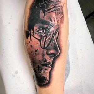 #guivy #tattoo #geneve #geneva #harrypotter #realism #portrait #realistique #tatouage #tatoueur #gva #tatuagem #tatoo