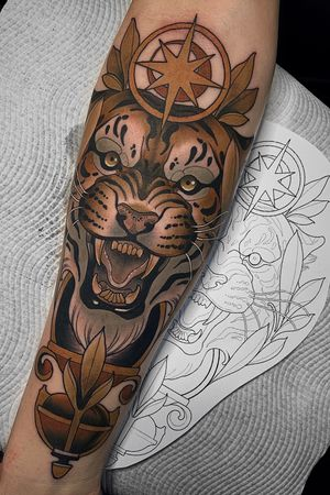 #neotraditional #newtraditional #illustrative #color #tiger #tigertattoo