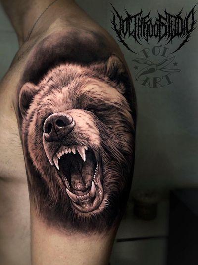 Oso #tattoo #bng #realism #bear #animal