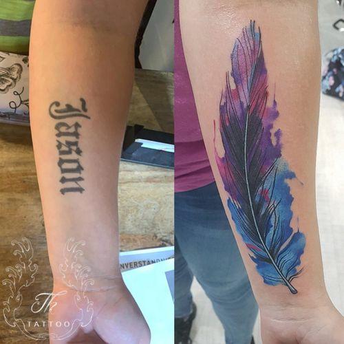 Cover up tattoo #thtattoo #tattoo #coverup #tatuaj #tatuajebucuresti  www.tatuajbucuresti.ro