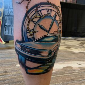 Back to the future tattoo Won first place at Jacksonville Tattoo convention for best small tattoo of the day