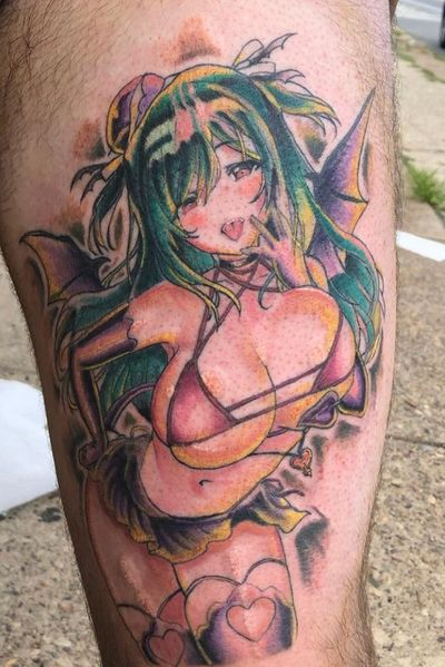 #anime #animetattoo #animeinspired #hentai #illustrative #character #color #colorful #ColorfulTattoos #kawaii #kawaiitattoo #japanese #japan #japanesetattoo #Gothic #Goth