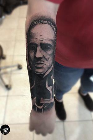#godfather #gangster #gangstertattoo #blackandgreytattoo #blackandgreytattoos #poland #polska #polandtattoos