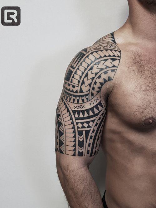 #raskinstyle #freehand #black #samoa #geometric