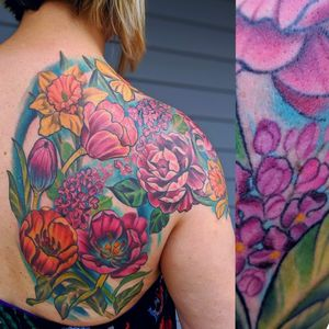Gorgeous floral shoulder piece by Serina Malec @twiggytattooer More floral tattoos please! To book with Serina email her at twiggytattooer@gmail.com . . . #floral #flowertattoo #flower #Fancy #floraltattoo #flower #iwantotattooflowers #tattoo #tattooartist #coloradoart #coloradotattoo #girlswithtattoos #artist #art #bodyart #chrysanthemum #chrysanthemumtattoo #mumtattoo #flowertattoo #florist #dandelion #lilacs #artist #denver #colorado #coloradoartist #coloradotattooartist #lyonstattoo #bouldercolorado #ladytattooer
