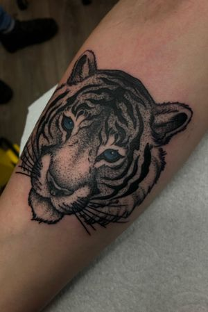 Dots and stripes 😏 Thank you Robbie 👍🏼 #dotwork #dotworktattoo #dotworktattoos #tigertattoo #tigertattoos #tigers #tigerlover #tigerlovers #irish #ireland #dublin #dublintattoo #dublintattoostudio #dublintattooartist
