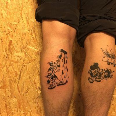 #drawing #tattoo #inked #ink #flashtattoo #tattooflash #paris #paristattoo #sketchtattoo #sketch #tatouage #perso #charactersketch #france #dessin #blackwork #black #paint #cartoon #bw #tattoo #tattoos #mickey #disney #comics #paint #dingo