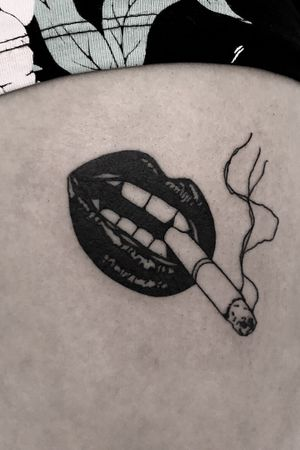 Smoke #blacktattoo #illustrative #blackink #blackworkwer #blackwork