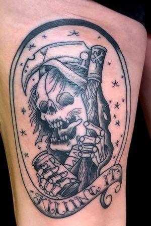 #reaper #puntat #blackandgrey