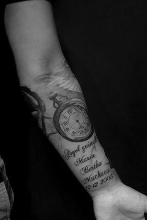 Black and grey half sleeve. #timepiece #blackandgrey #blackandgreyrealism #realism