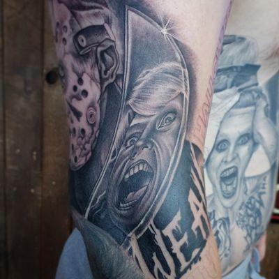 Close up #inkjecta #inkjectanano #inkjectatattoomachines #tattoo #fridaythe13th #jason #horror #horrormovies #horrormovietattoo #instatattoo #instatatt #knife #reflection #tattoomodel #blackandgreytattoo #bngink #bng #bngsociety #horrortattoos #hockey #hockeymask #wip #workinprogress #tattoodo #killerinktattoosupplies #silverback #silverbackink #hellotattoomed #uktta #hellotattoomed
