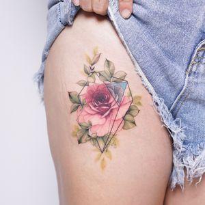#rosetattoo #geometrictattoo #flowertattoo #floraltattoo #장미타투 #꽃타투 #koreatattoo #타투이스트실로 #tattooistsilo #tattooing #tattoo #타투