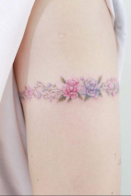 #armband #floralarmband #ladyarmband #colourtattoo