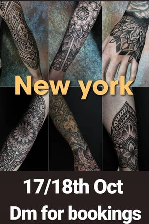 I'll. Be working in NYC 17/18th October message me for appointments