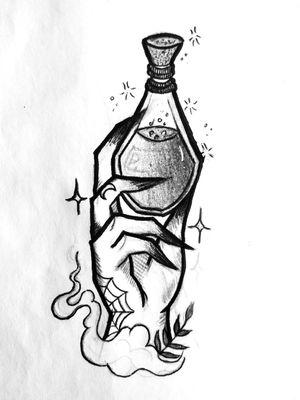 Mano bruja poti🖤 #tete #tattoo #tattoos #ink #tatuajes #spain #work #loveit #loveink #sketch #witchy #witchytattoo #wicca #wiccatattoo #design #occultart #ocult #occultism #dark #darkart #darktattoo