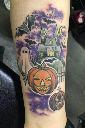Fun halloween piece i made at the massachusetts tattoo convention