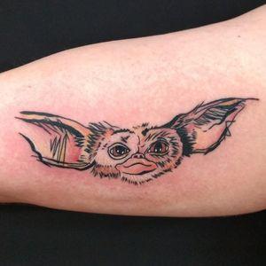 Mogwai tattoo, by Adam McDade #gremlins #mogwai #cultcinema