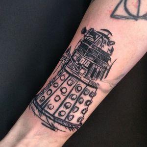 Doctor Who Dalek, by Adam McDade #dalektattoo #dalek #drwho