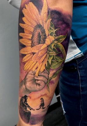 #colortattoo #sunflower #momtattoos