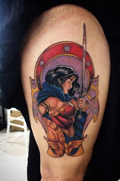 #wonderwoman #comics #color #artnoveau #dccomics