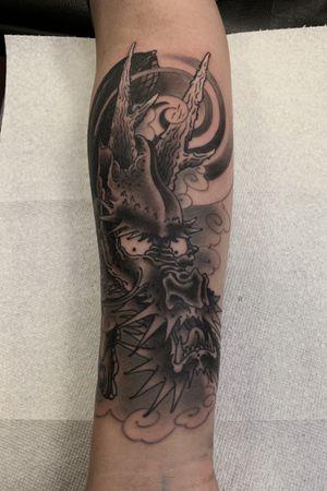 Black dragon! #dragon #irezumi #japanese #blackdragon